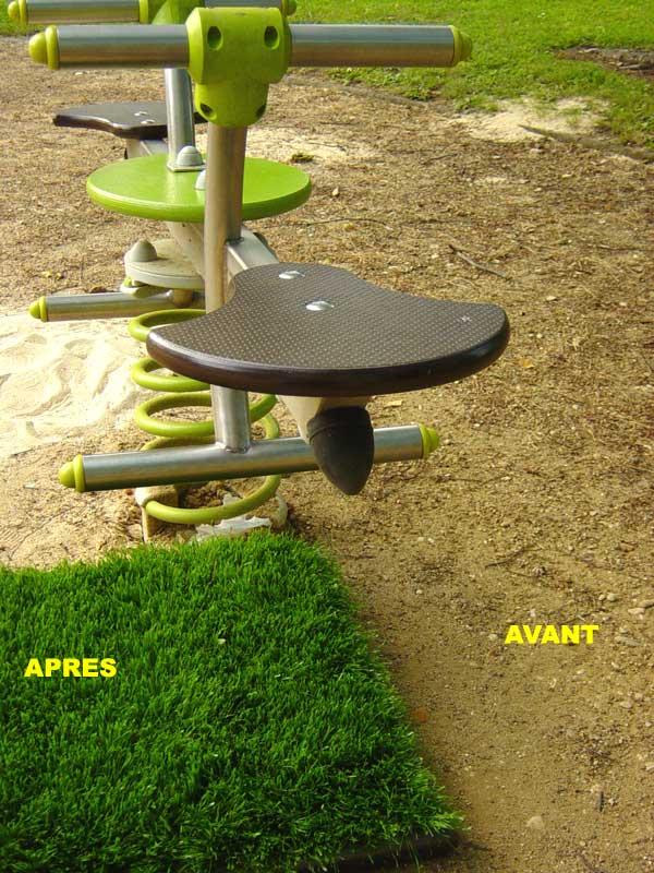 Photos 88 du gazon artificiel ath na nouveau gazon de for Amenagement jardin sans pelouse