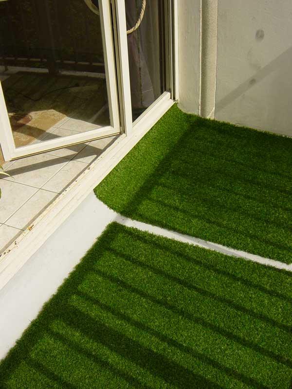 photos 4 du gazon synth tique la belle pelouse artificielle pour jardin balcon piscine v randa. Black Bedroom Furniture Sets. Home Design Ideas